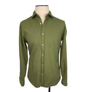 Mango Man Shirt slim fit US S Green Long Sleeves.